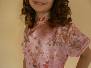 kinesisk kjole barn lyserødGEM