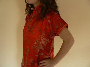 kinesisk kjole barn rød
