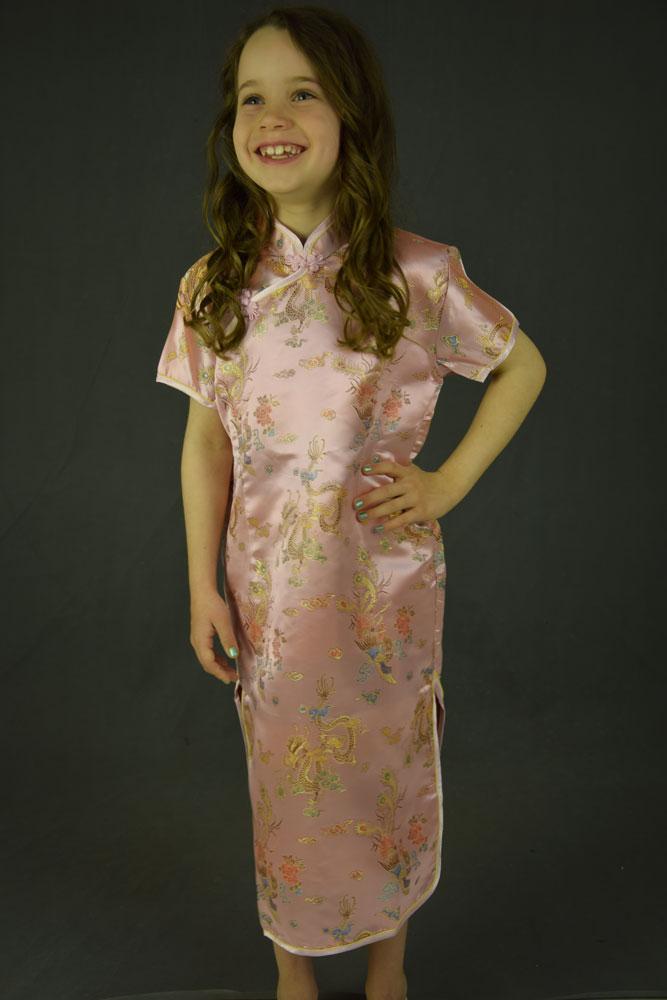 412d55c52b99 Kinesisk kjole - Lyserød -